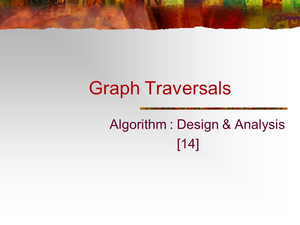 Algorithm : Design & Analysis [14]